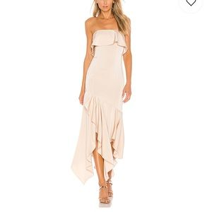NEW NBD Gold Rush Gown in Macadamia Nude